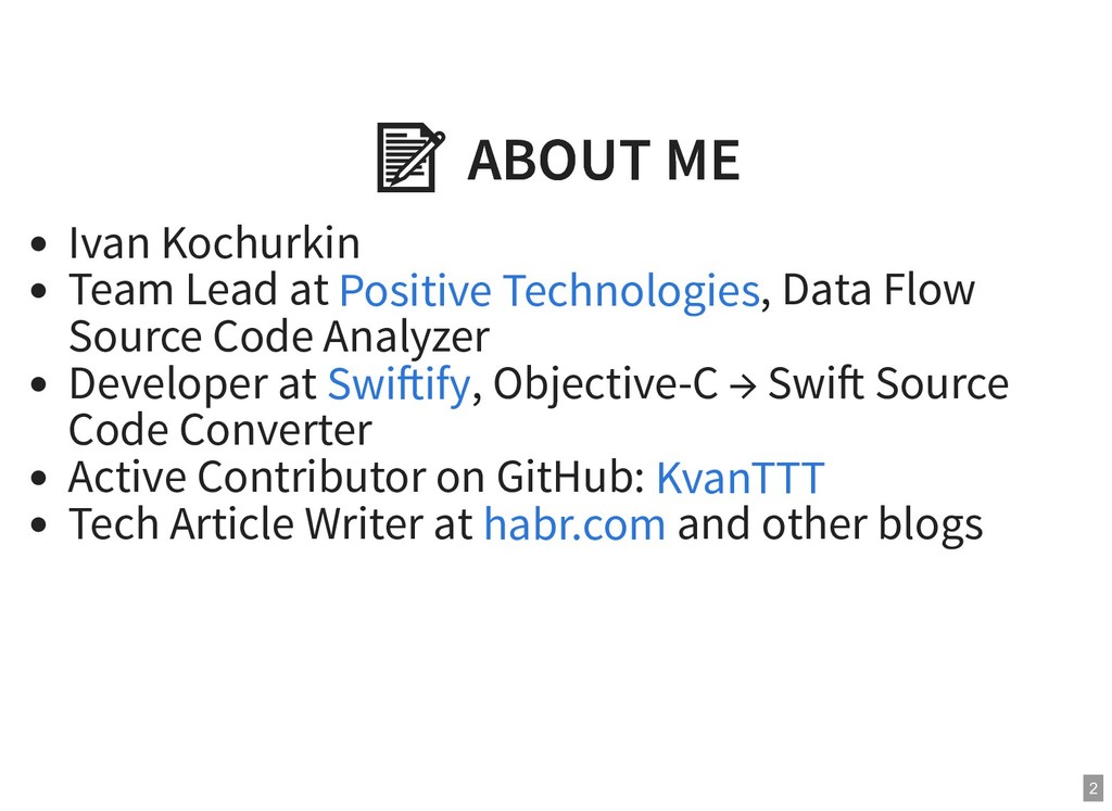 ABOUT ME  ABOUT ME Ivan Kochurkin Team Lead at...