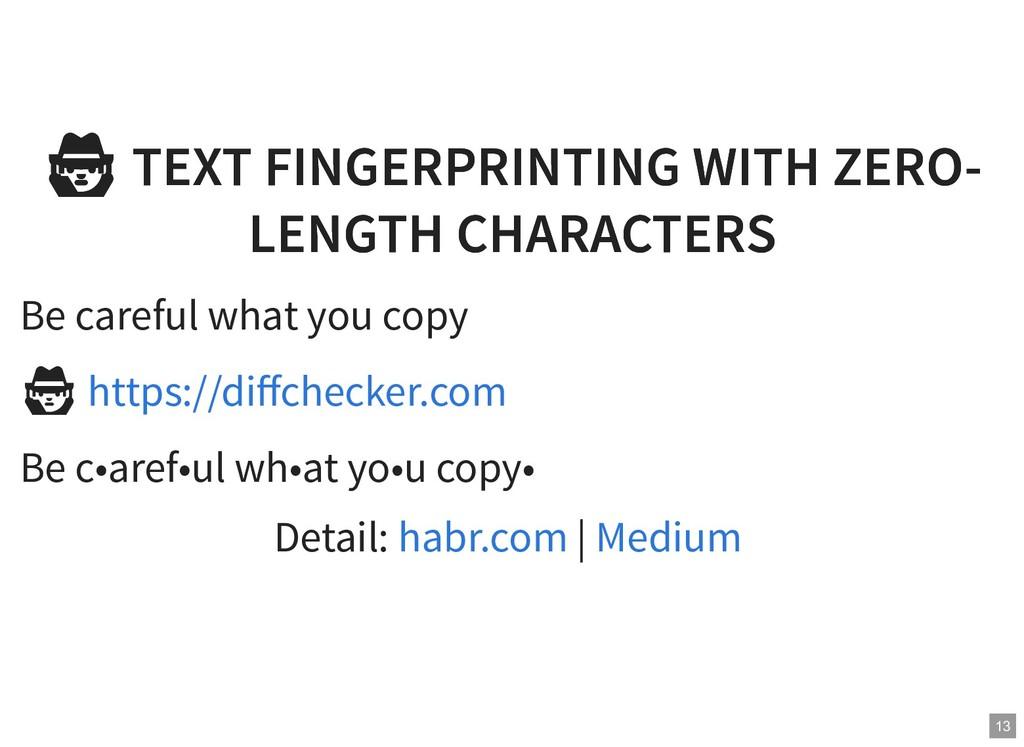 TEXT FINGERPRINTING WITH ZERO- TEXT FINGERPRINT...
