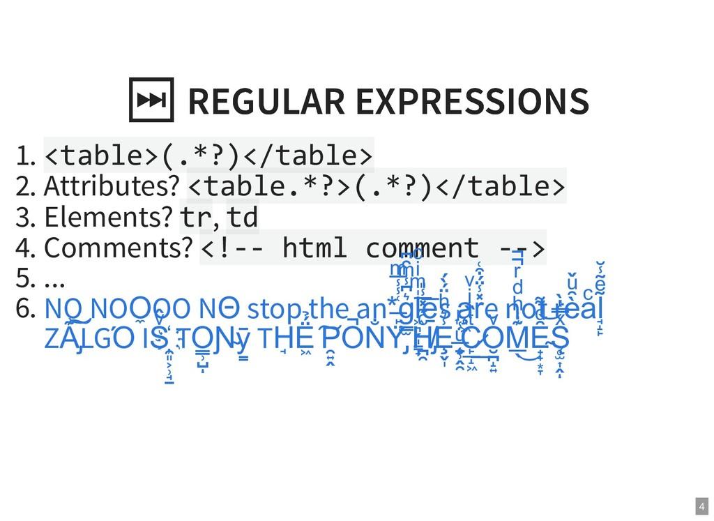 ⏭ REGULAR EXPRESSIONS ⏭ REGULAR EXPRESSIONS 1. ...