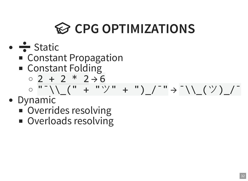 CPG OPTIMIZATIONS  CPG OPTIMIZATIONS ➗ Static ...