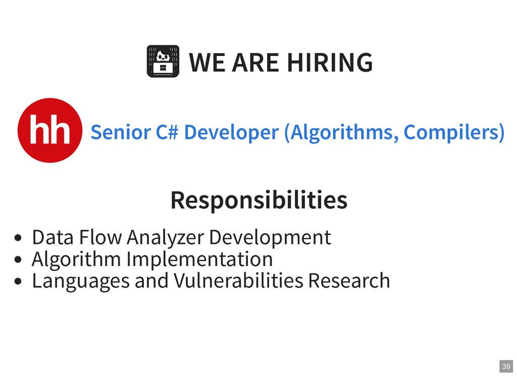 WE ARE HIRING WE ARE HIRING Responsibilities Re...