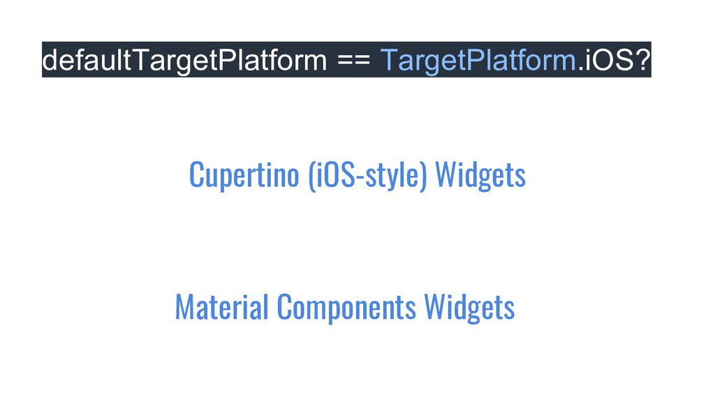 defaultTargetPlatform == TargetPlatform.iOS? Ma...