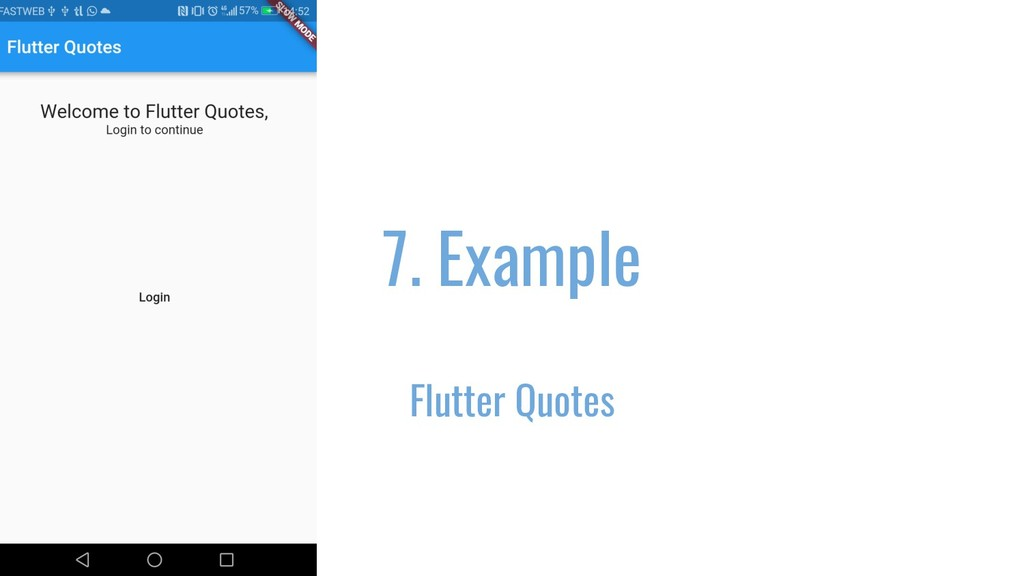 7. Example Flutter Quotes