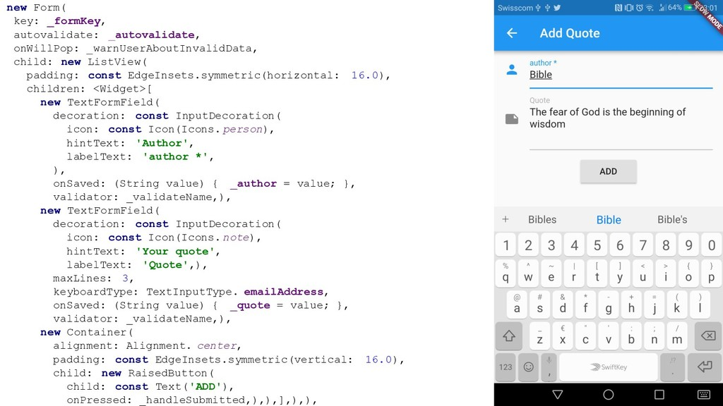 new Form( key: _formKey, autovalidate: _autoval...