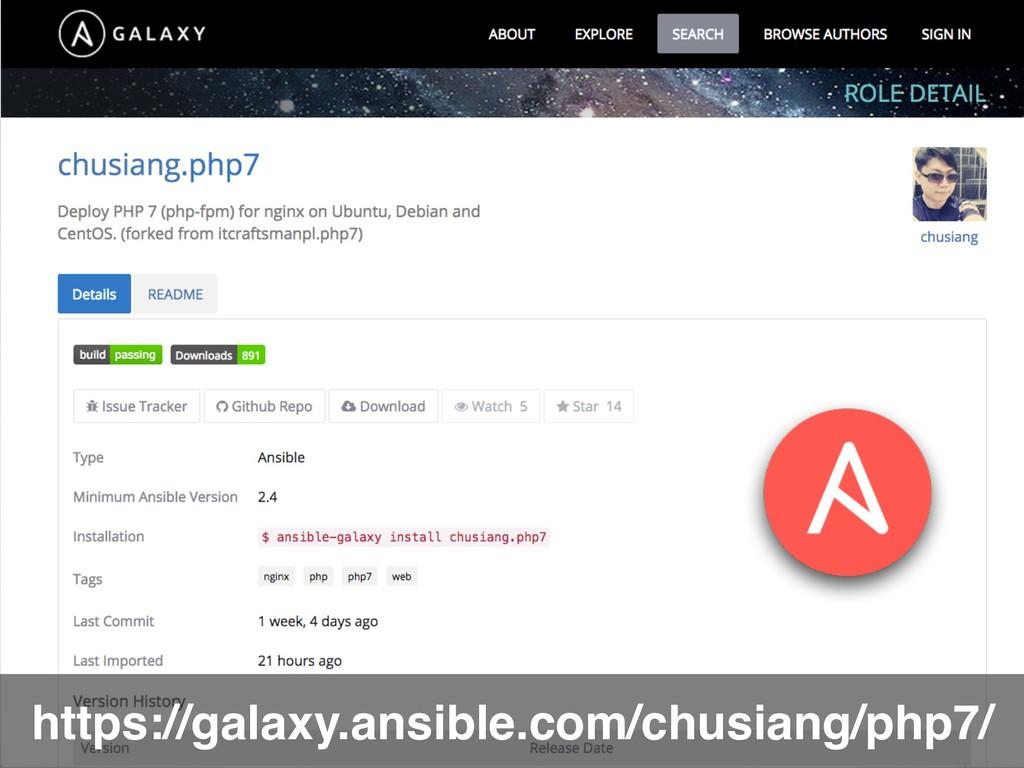 https://galaxy.ansible.com/chusiang/php7/