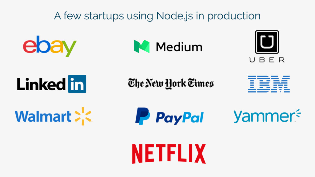 A few startups using Node.js in production