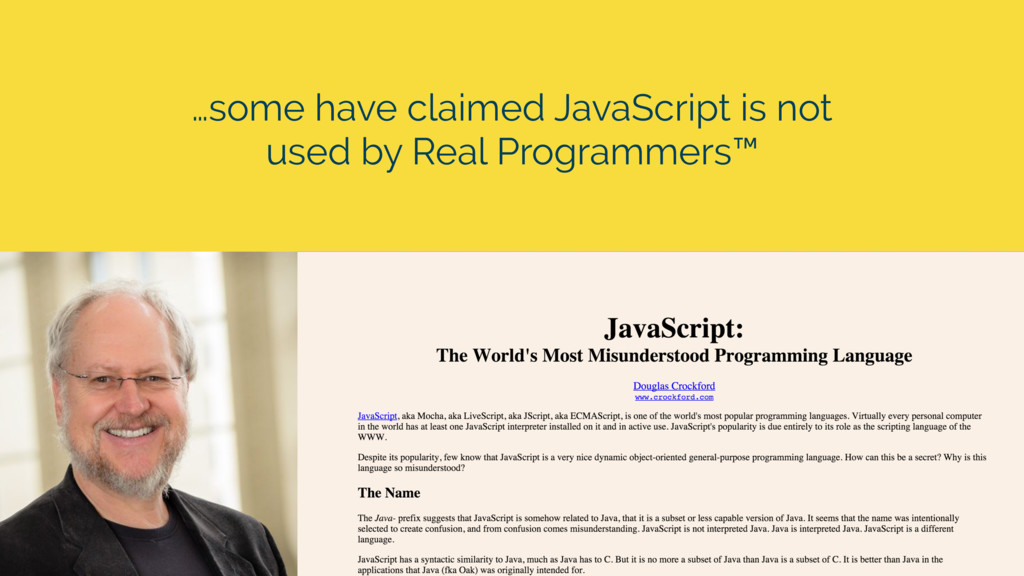 …some have claimed JavaScript is not used by Re...