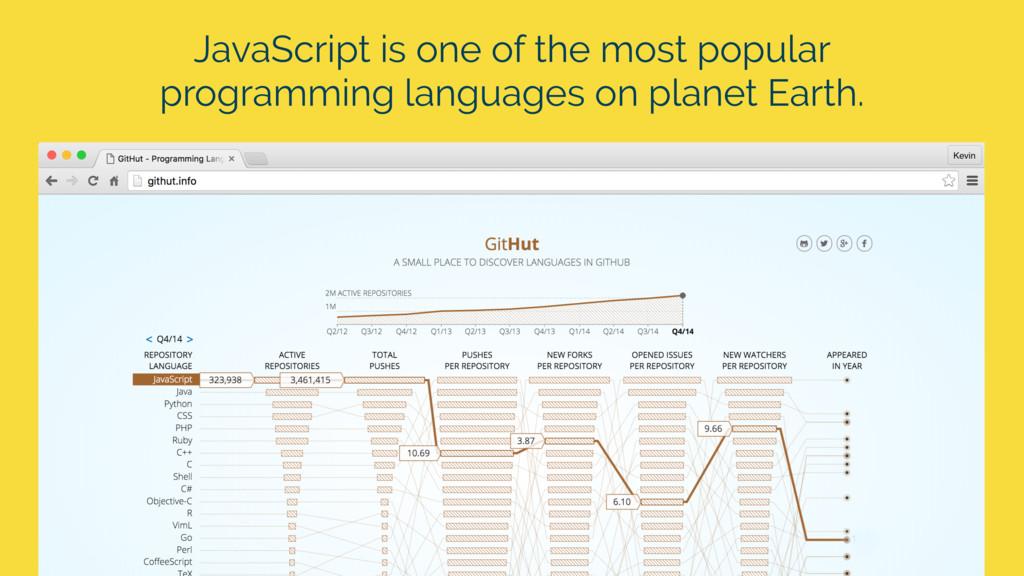 JavaScript is one of the most popular programmi...