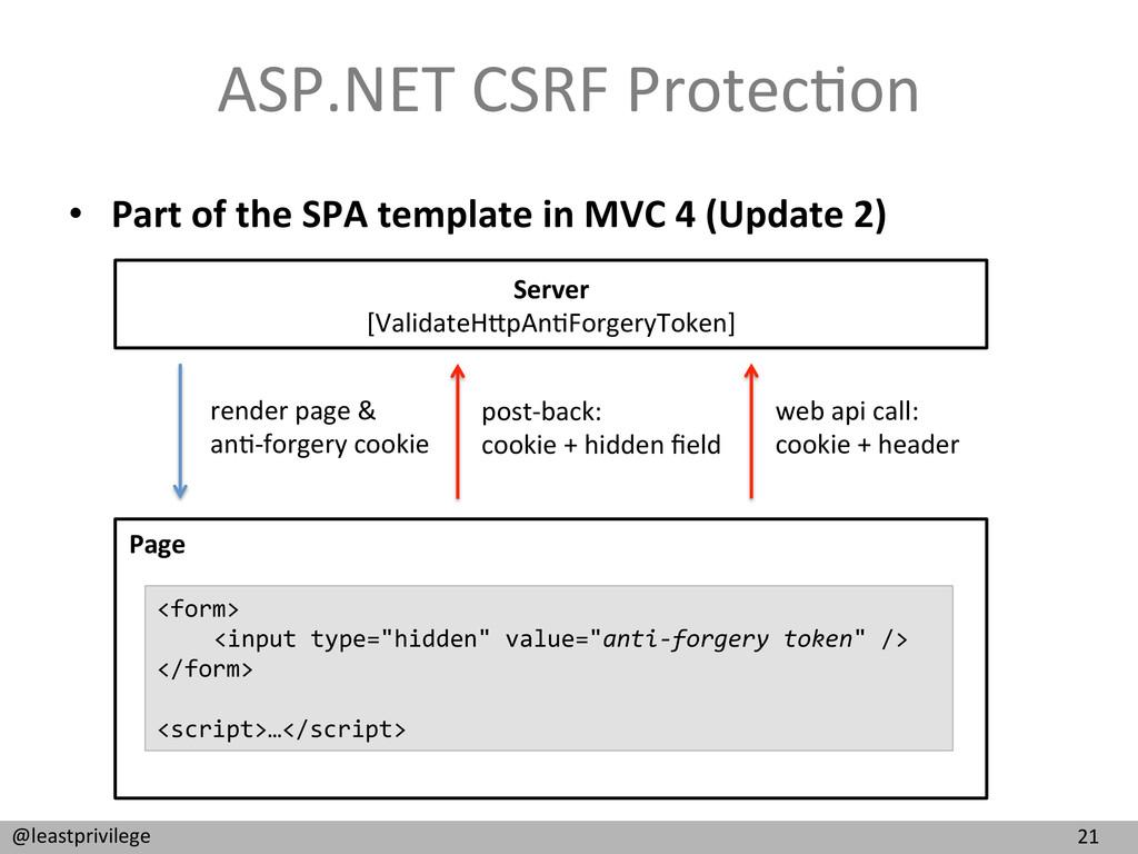 21  @leastprivilege  ASP.NET CSRF P...
