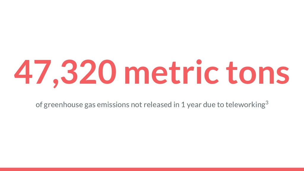 47,320 metric tons of greenhouse gas emissions ...