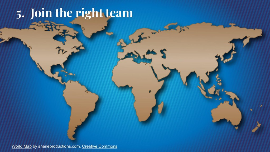 5. Join the right team World Map by shaireprodu...