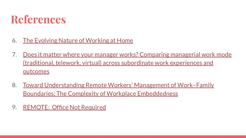 References 6. The Evolving Nature of Working at...