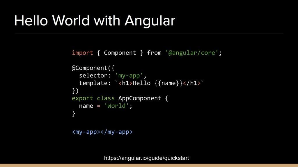 https://angular.io/guide/quickstart