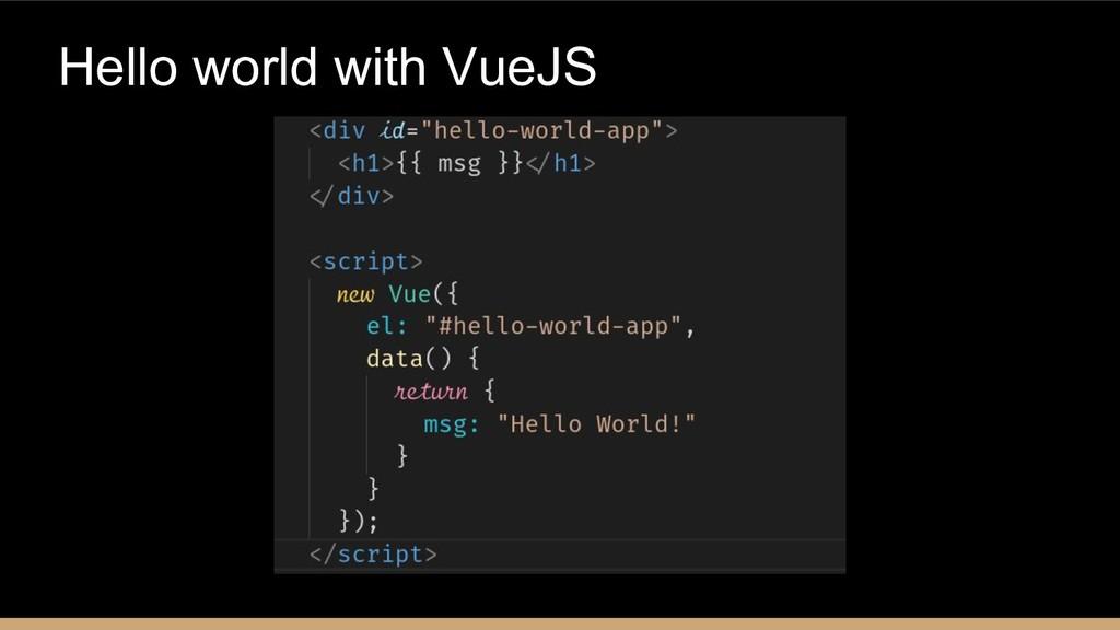 Hello world with VueJS