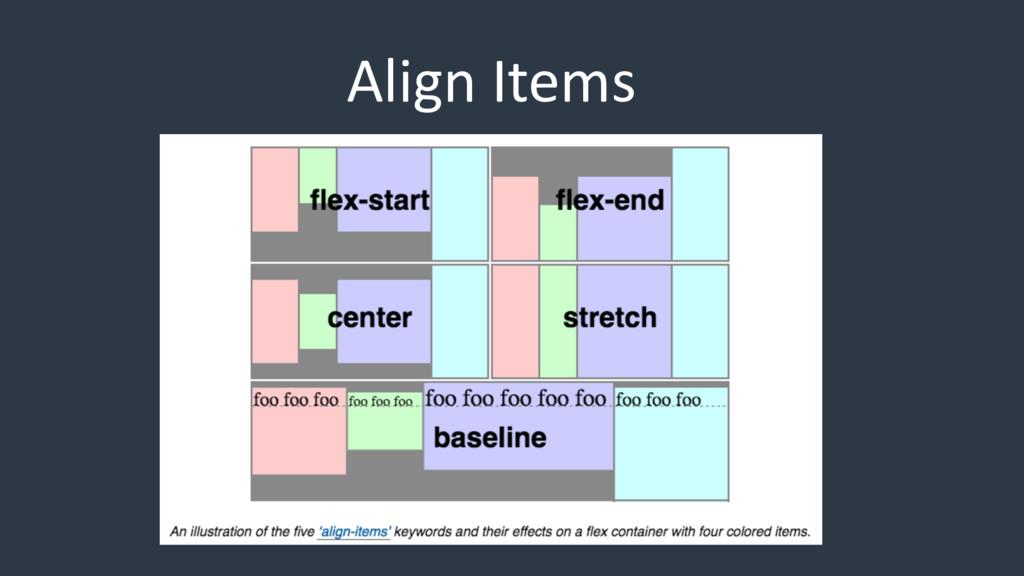 Align Items