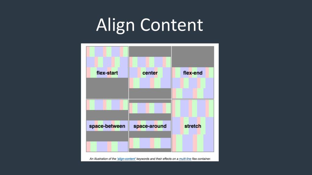 Align Content