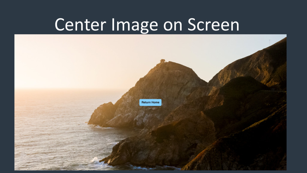 Center Image on Screen