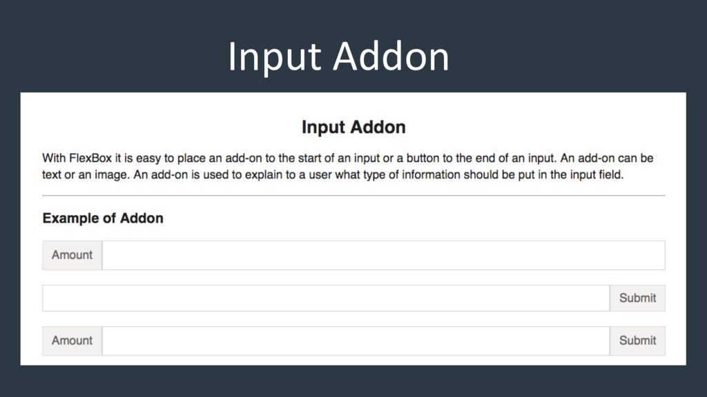 Input Addon