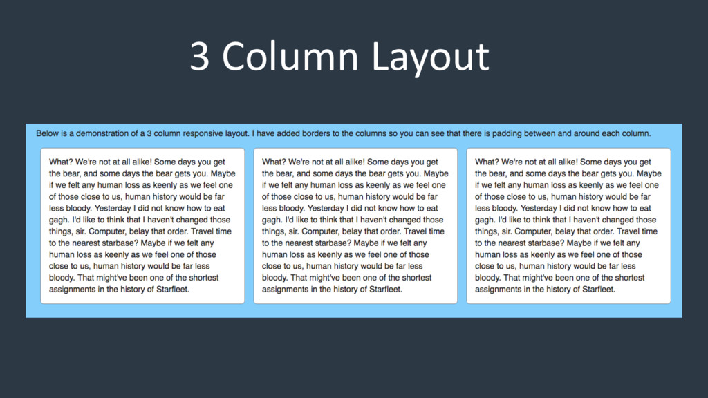 3 Column Layout