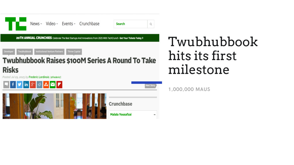 Twubhubbook hits its first milestone 1,000,000 ...