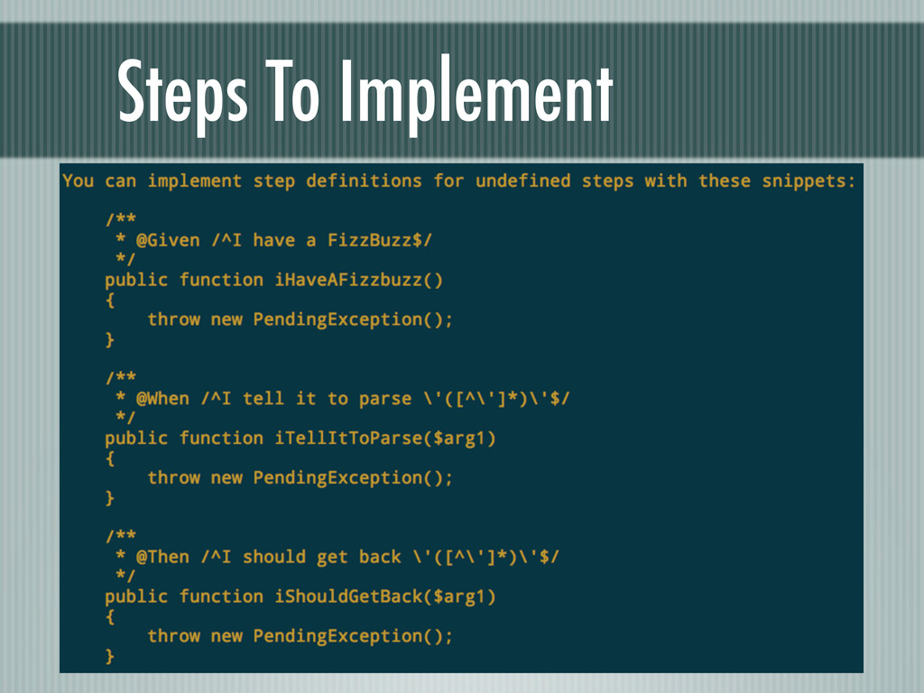 Steps To Implement