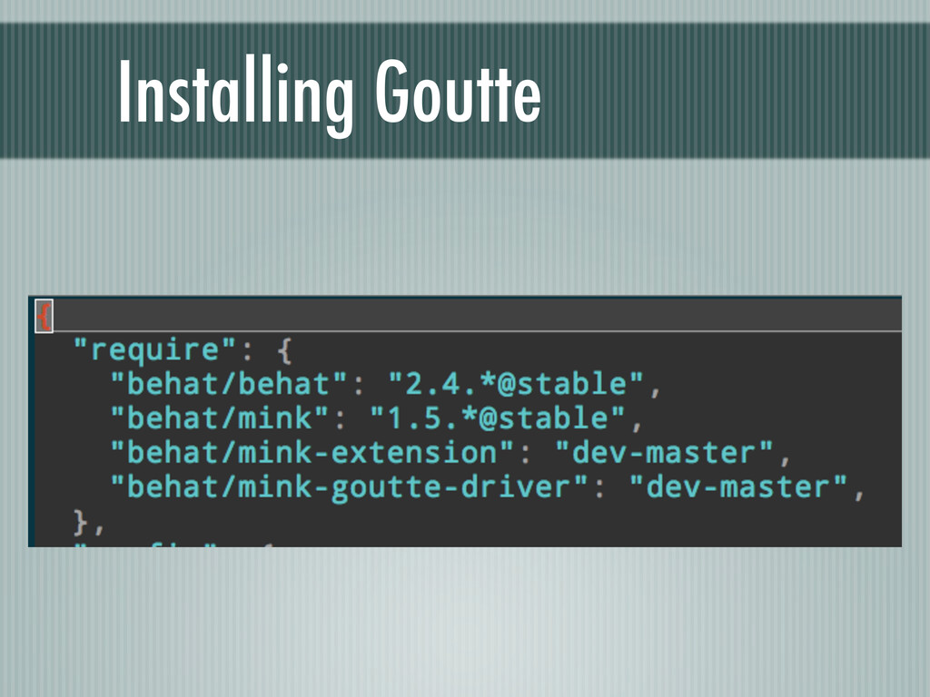 Installing Goutte