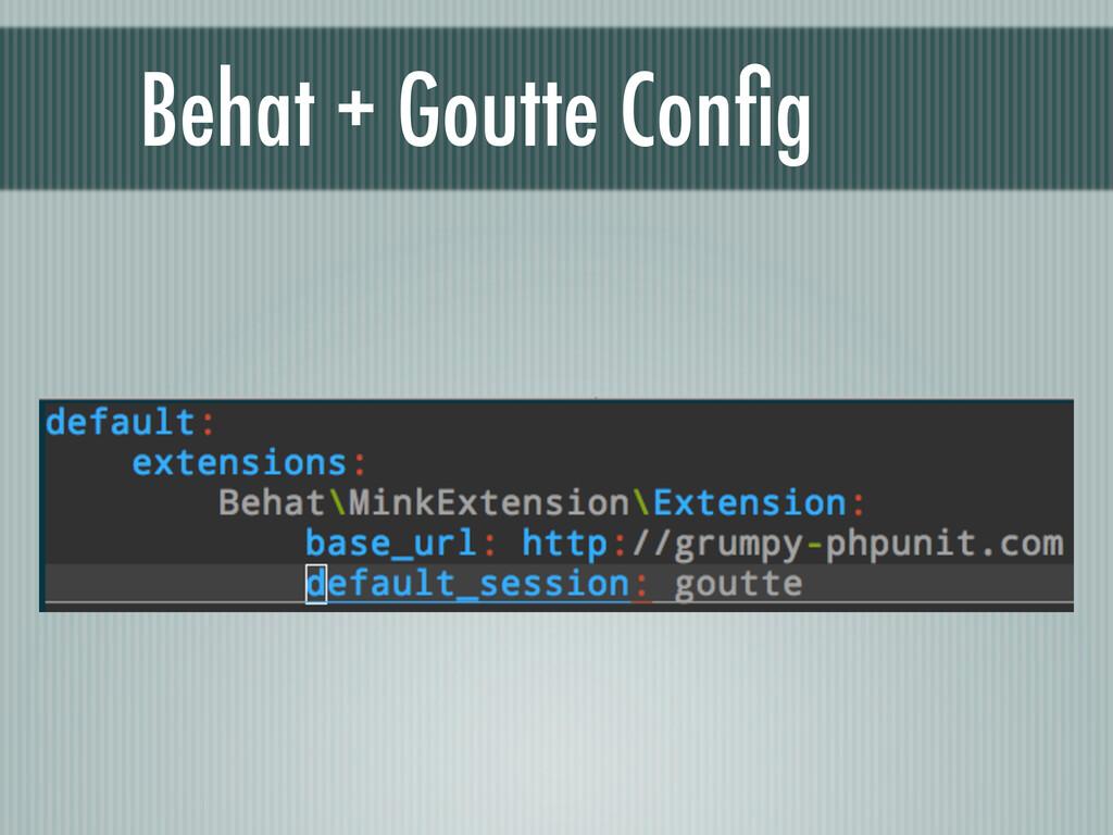 Behat + Goutte Config