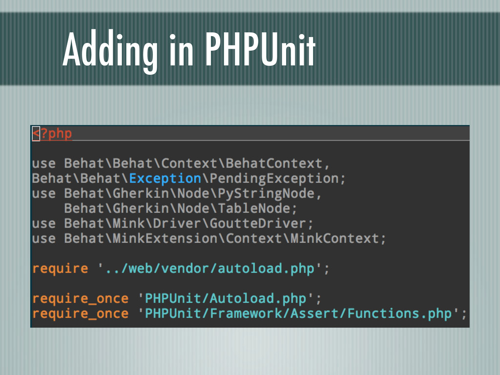 Adding in PHPUnit