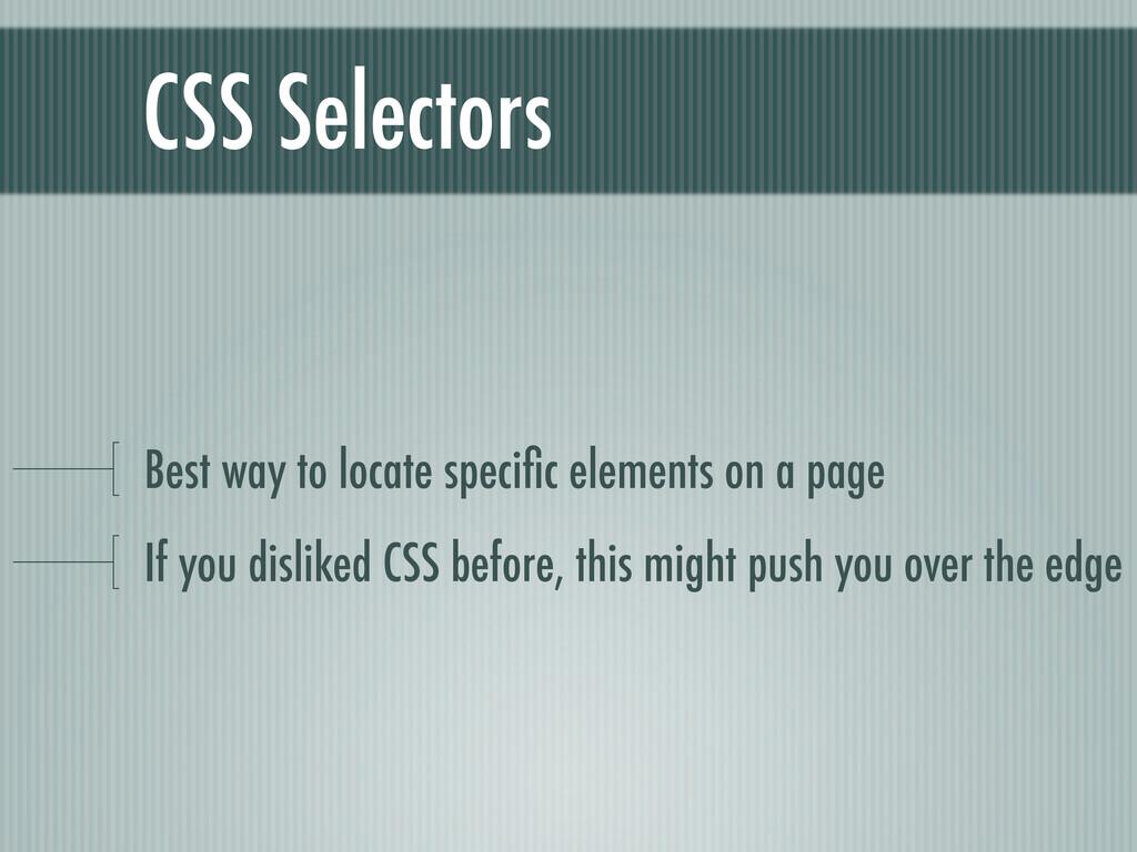 CSS Selectors Best way to locate specific elemen...