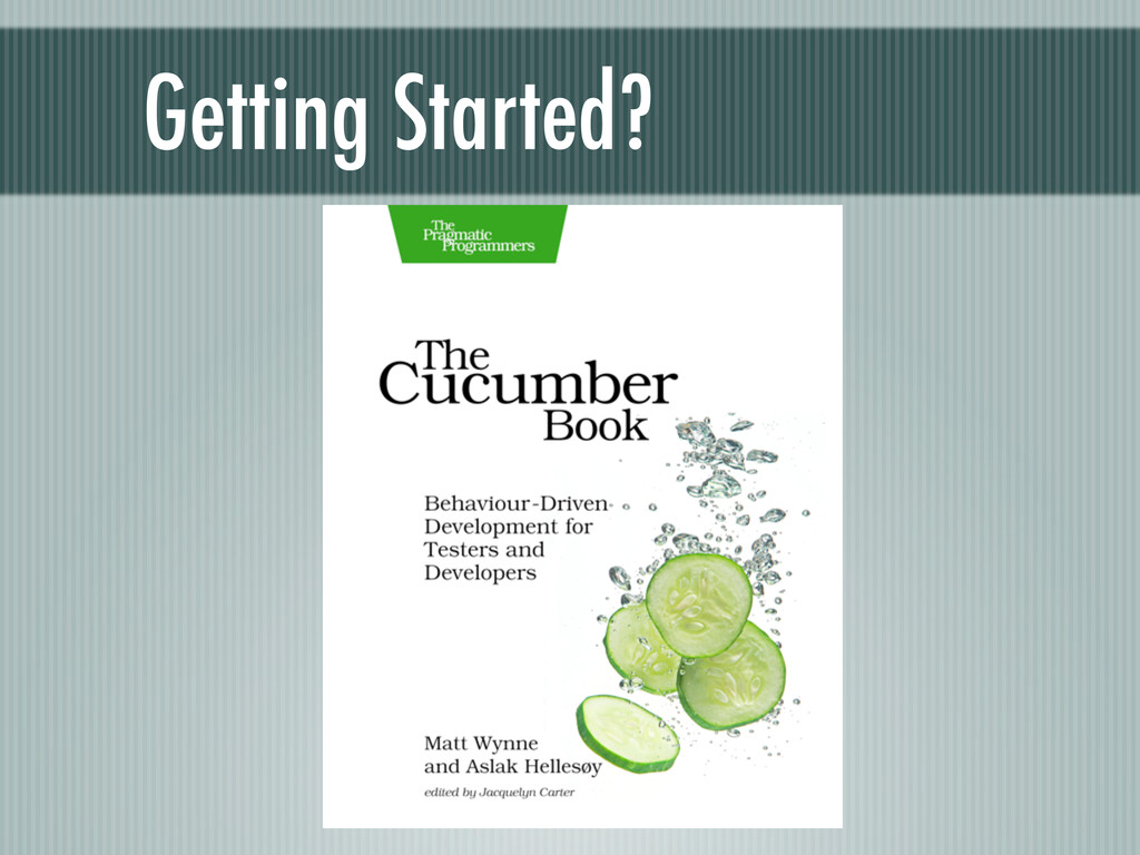 Getting Started?