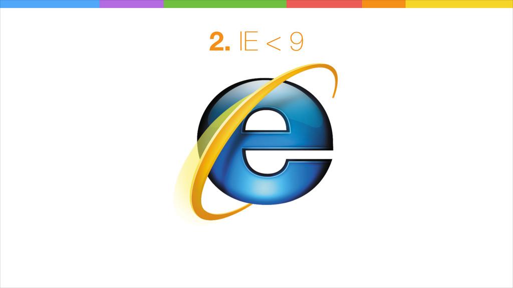 2. IE < 9