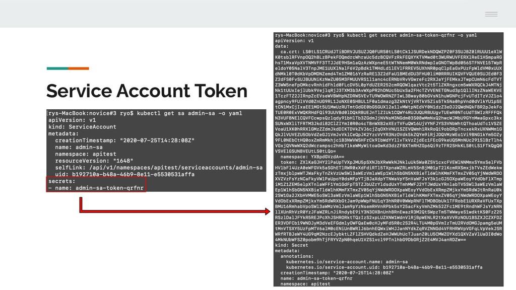 Service Account Token
