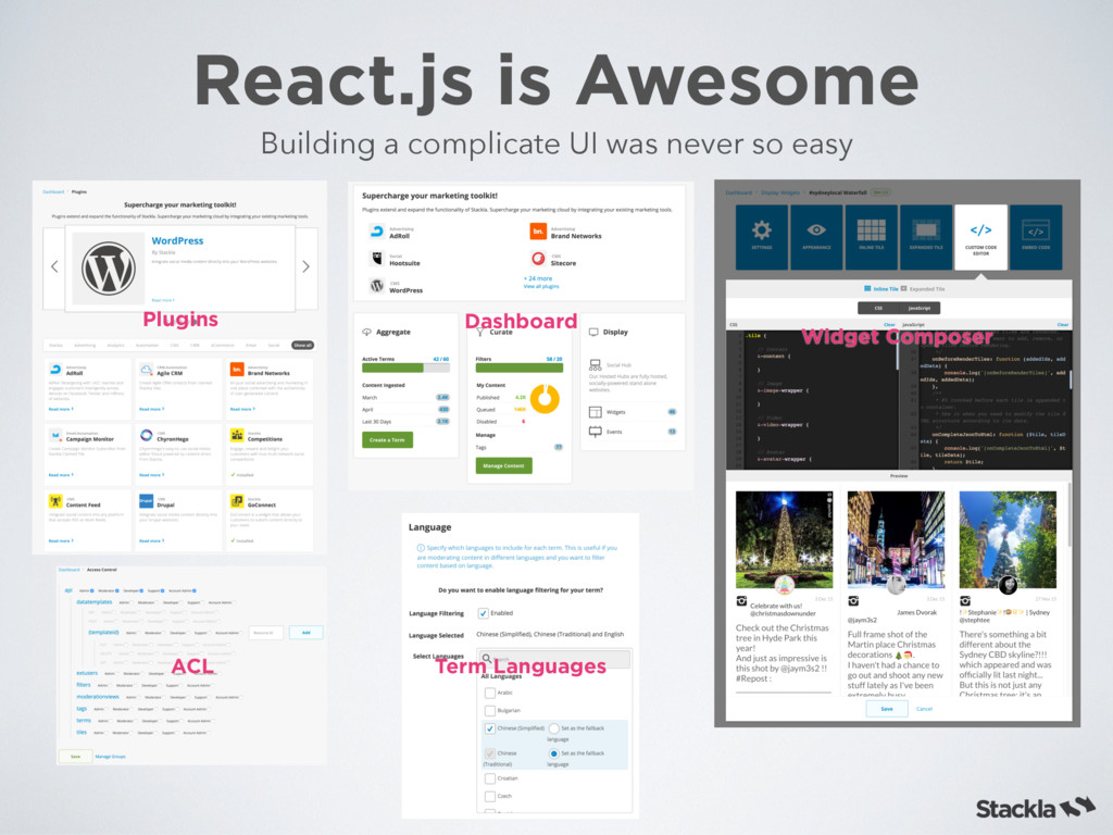 React.js is Awesome Building a complicate UI wa...