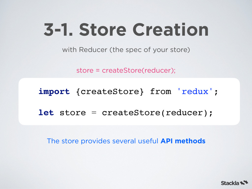 3-1. Store Creation with Reducer (the spec of y...