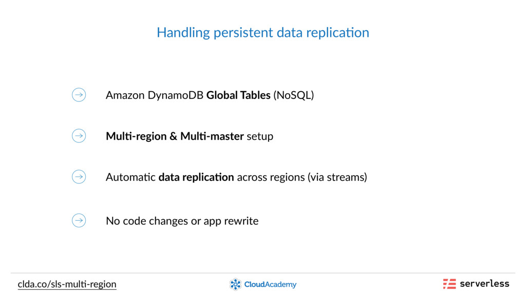 Handling persistent data replica,on Amazon Dyna...
