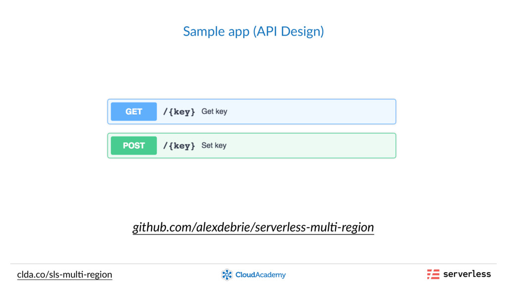 Sample app (API Design) clda.co/sls-mul,-region...