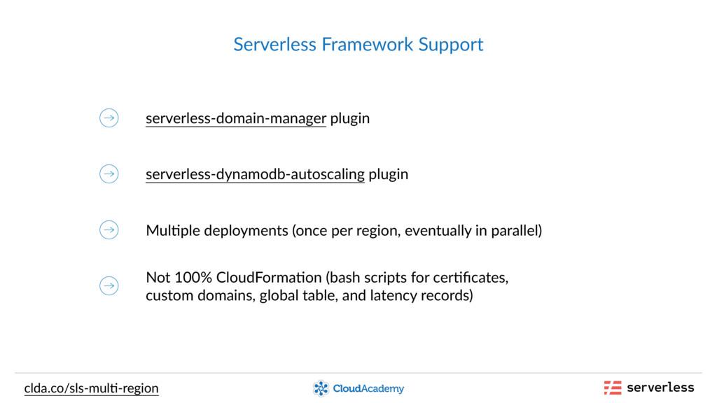 Serverless Framework Support serverless-domain-...