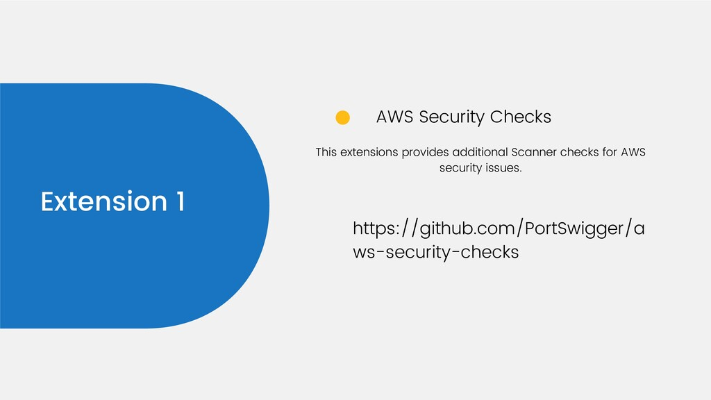Extension 1 AWS Security Checks https://github....