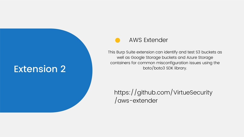 Extension 2 AWS Extender https://github.com/Vir...