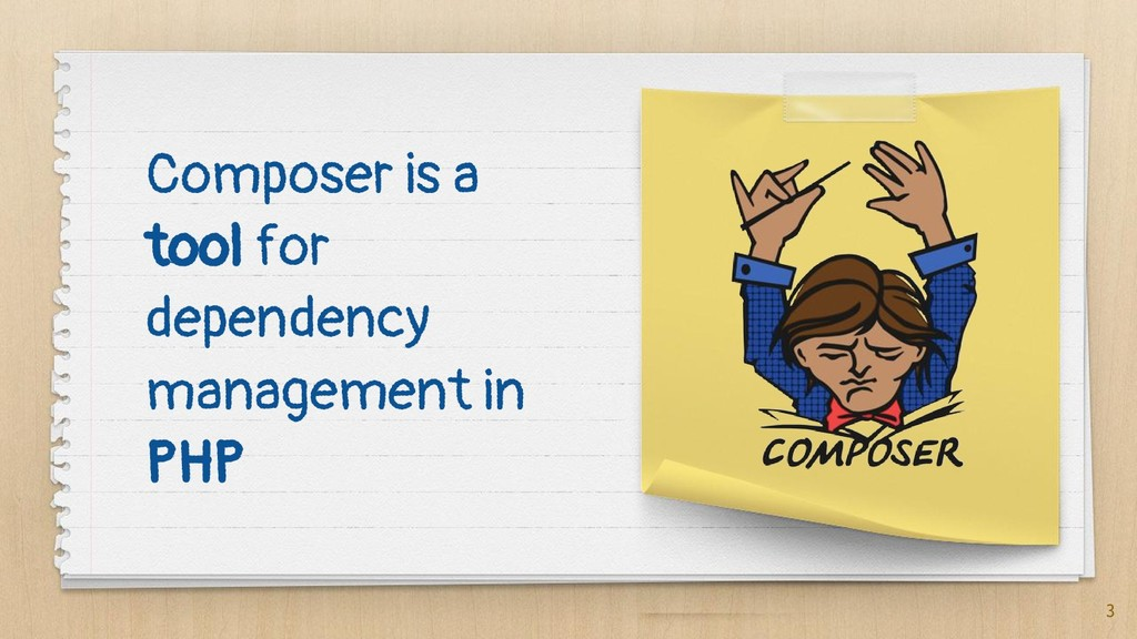 Composer is a tool for dependency management in...