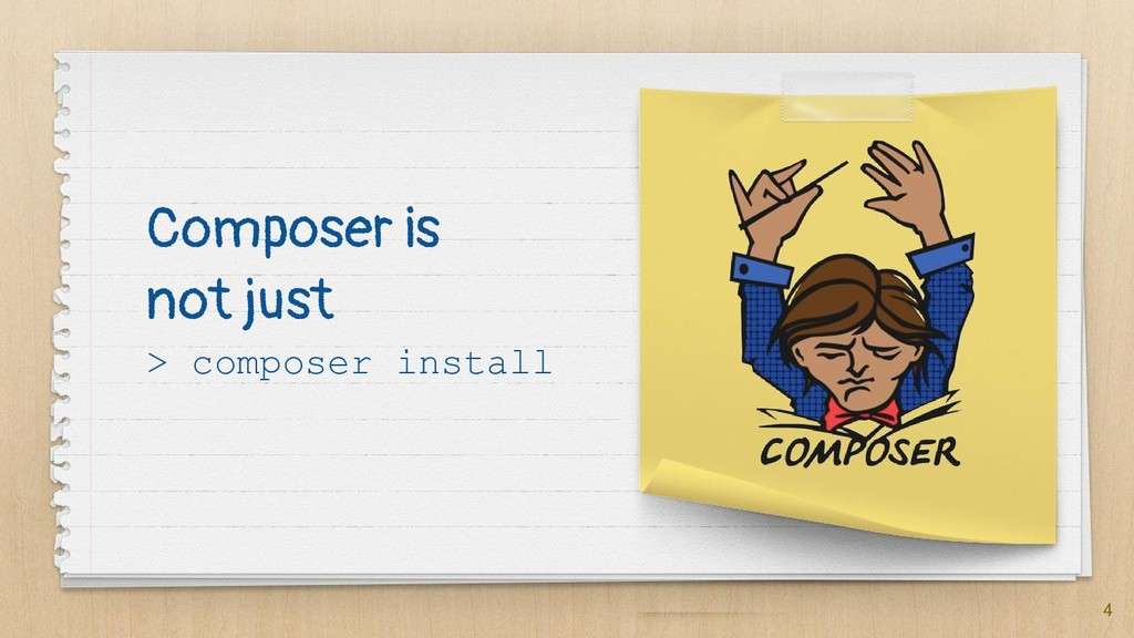 Composer is not just > composer install 4