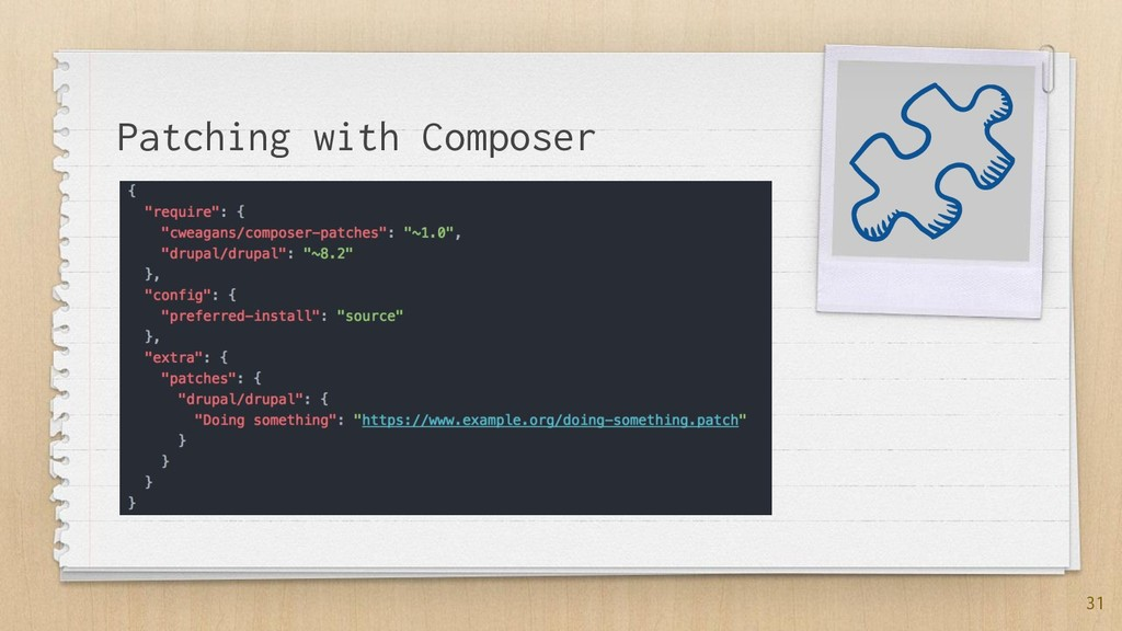 Patching with Composer 31
