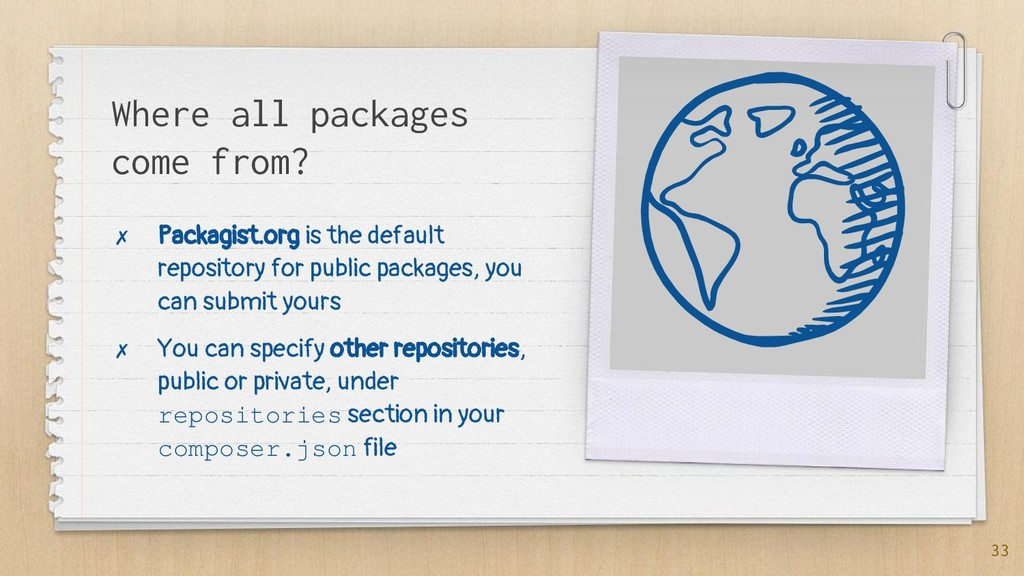 Where all packages come from? ✗ Packagist.org i...
