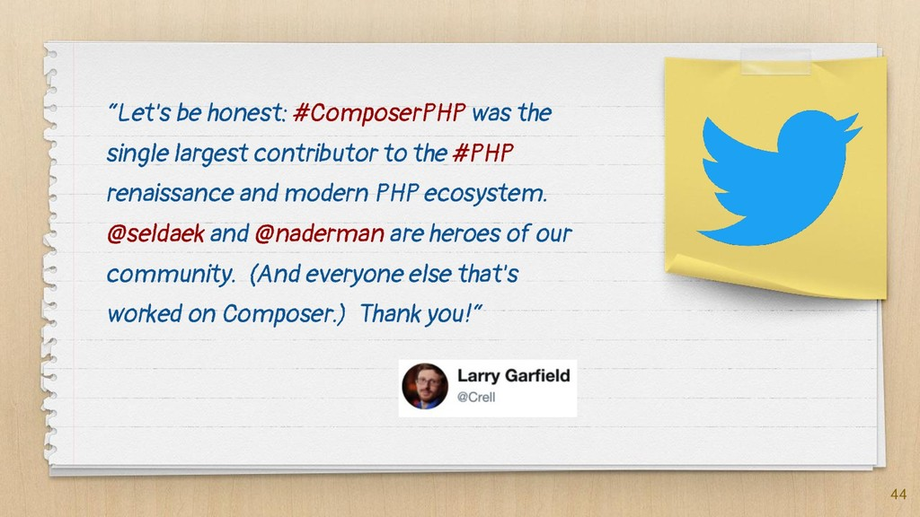 """Let's be honest: #ComposerPHP was the single l..."