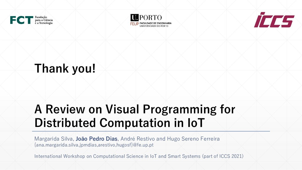 Thank you! A Review on Visual Programming for D...