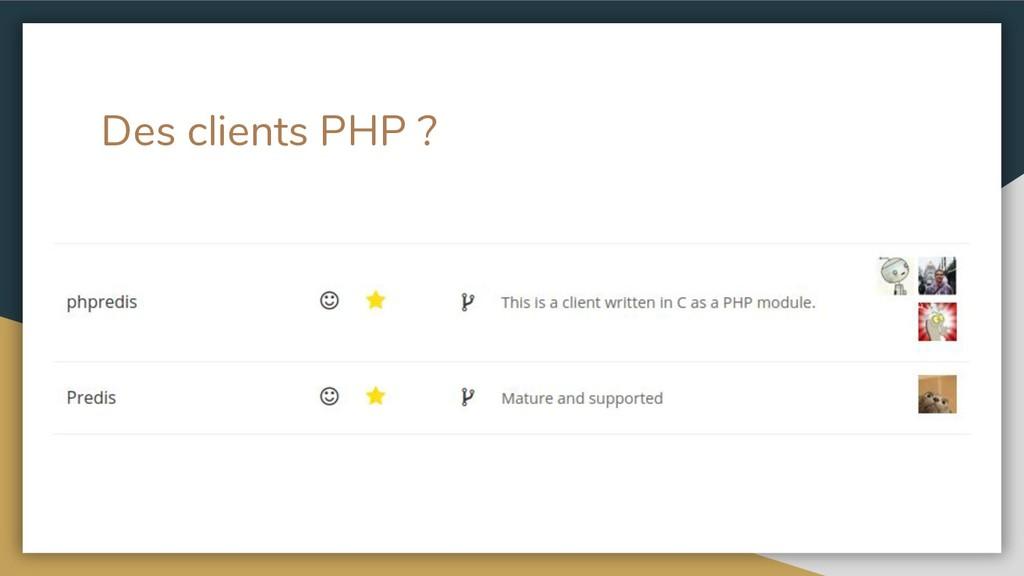 Des clients PHP ?