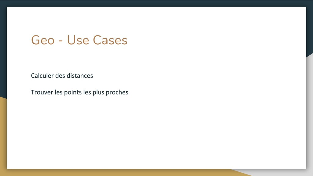 Geo - Use Cases