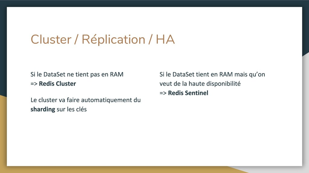 Cluster / Réplication / HA