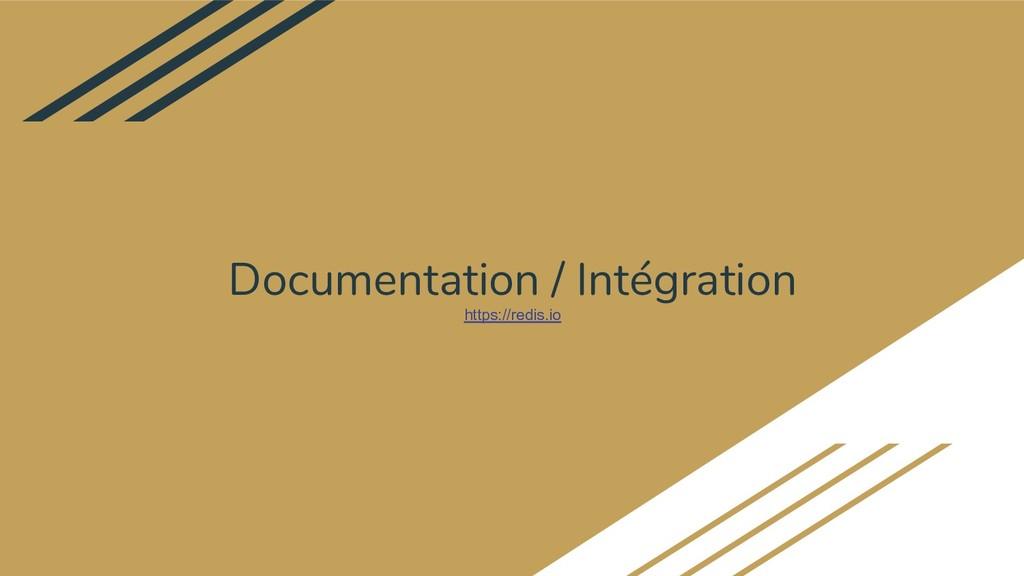 Documentation / Intégration https://redis.io
