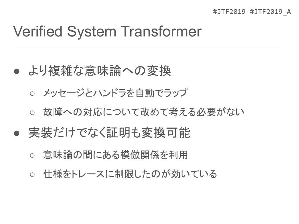 #JTF2019 #JTF2019_A Verified System Transformer...